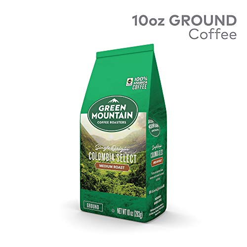 Green Mountain Coffee Colombian Fair Trade Select, Ground Coffee, Fair Trade Certified, Medium Roast, Bagged 10oz.