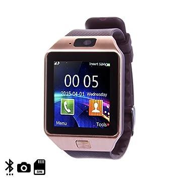 DAM - Smartwatch Ártemis Bt Brown. Cámara de fotos. Admite tarjeta SIM y Micro SD de hasta 32GB. mensajería, registro de llamadas, marcador bluetooth ...