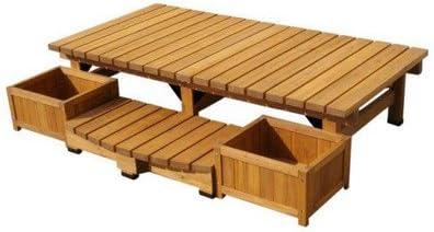 ガーデンチェア デッキ縁台ベンチ 大サイズ4点セット 杉材