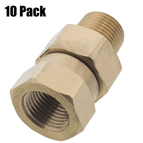 Erie Tools 10 Pressure Washer 3/8 Male to Female NPT Brass Swivel Coupler 3200 PSI by Erie Tools