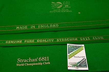 6811 Strachan Snooker Cloth 30 OZ Strechan West Of England (6 X12) With Bed