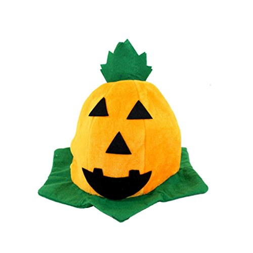 [Tenworld Witch Hats Costume Party Props Halloween Pumpkin Hat] (Crazy Magician Costume)