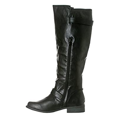 Riverberry Women's Mia Knee-High, Low Heel Riding Boots | Knee-High