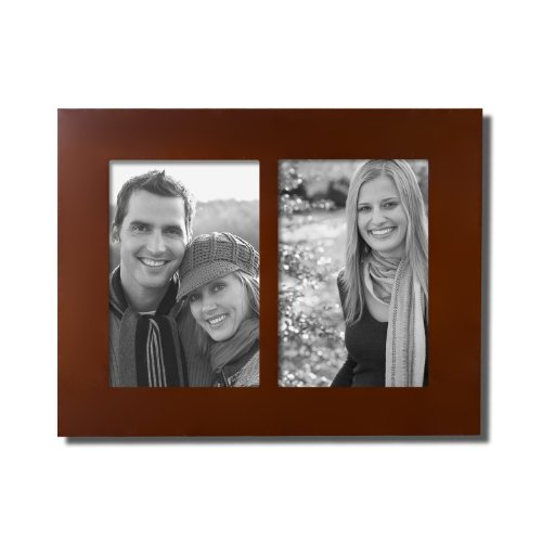 FrameArmy Home Office Accents Decoration: Wooden Picture Frame 2 Openings of 4x6 Inches, Wall Hanging Best For Photos/ Pictures, Ads Posters, Certificate/Diploma/Lisences Showcasing