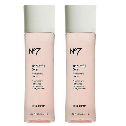 Dry Skin Normal Skin Toner - Boots No7 Beautiful Skin Refreshing Toner, Normal/Dry-6.7 fl oz ( TWO - PACK )