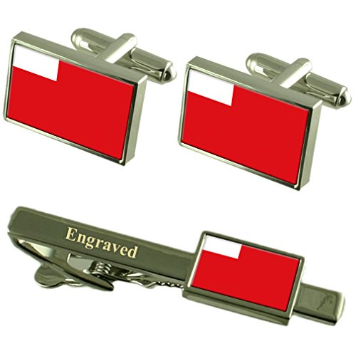 Ajman Flag Cufflinks Personalised Engraved Keepsake Box