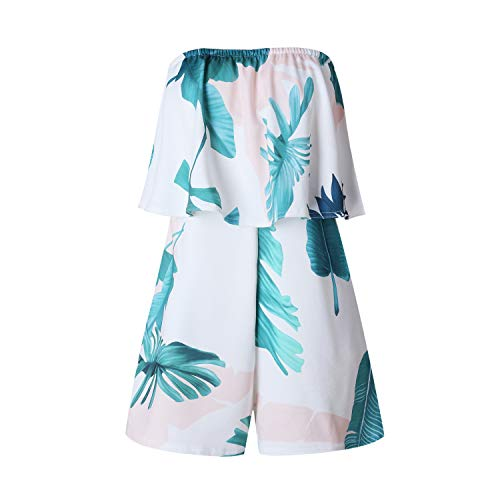 Boho Playsuit Floral Print Rompers Short Overalls Top Feminino Women Casual Summer Beach Jumpsuit Eight L