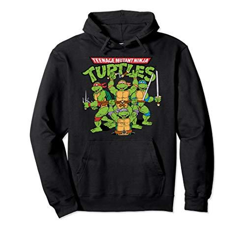 Unisex Teenage Mutant Ninja Turtles Hoodie Medium Black