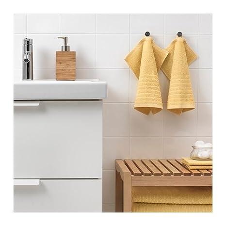 Ikea Vagsjon 603.555.64 - Juego de 4 paños de baño (12 x 12 cm), color amarillo: Amazon.es: Hogar
