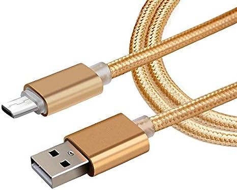 Shot Case Cable Metal Nailon para Sony Xperia Z5Compact 1.5M Oro