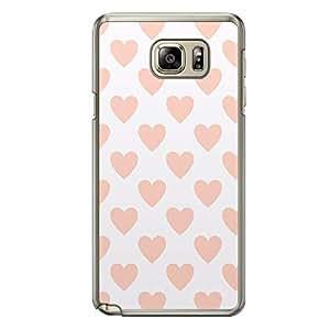 Loud Universe Samsung Galaxy Note 5 Love Valentine Printing Files A Valentine 94 Printed Transparent Edge Case - White/Orange