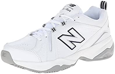 New Balance Women's WX608v4 Training Shoe, White/Navy, 5 B US