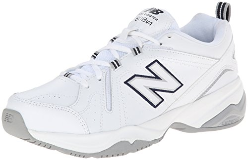 New Balance Women's WX608V4 Training Shoe,White/Navy,8.5 D US