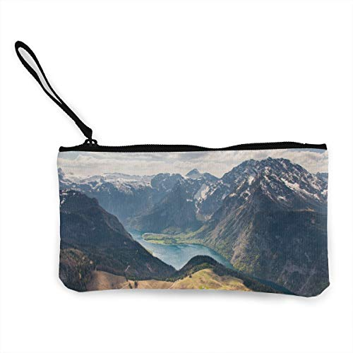 Oomato Canvas Coin Purse Grand Mountains Cosmetic Makeup Storage Wallet Clutch Purse Pencil - Tapestry Wall Grande