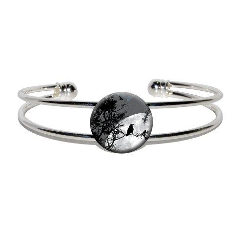 Raven Night Novelty Silver Bracelet