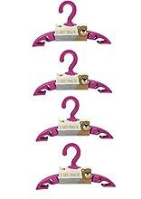 Perchas de ropa de bebé, paquete de 40 unidades,disponibles en rosa, azul y blanco (rosa)