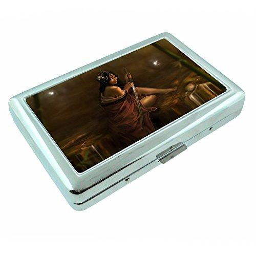 Fireflies Night Time Bugs S10 Silver Cigarette Case Metal Wallet Id Holder 4