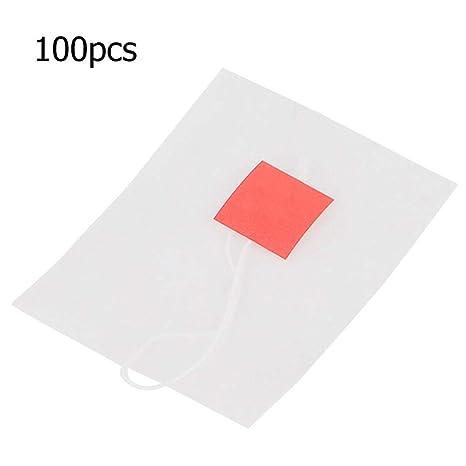 100 bolsas de té vacías no tejidas con bolsa de filtro con ...