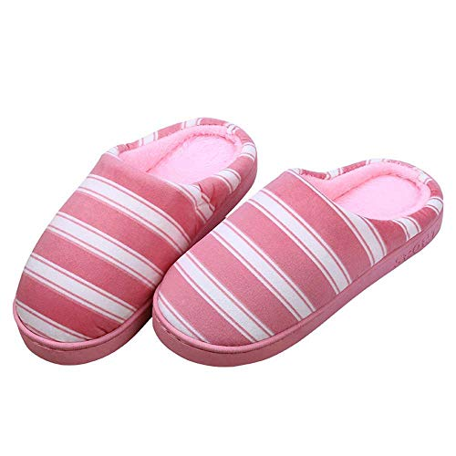 Shoes Slippers Home Slides House Cozy Non Unisex 18 Slip Indoor Memory Pink Foam Warm fAxTq