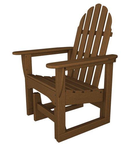 POLYWOOD ADSGL-1TE Classic Adirondack Glider Chair, ()