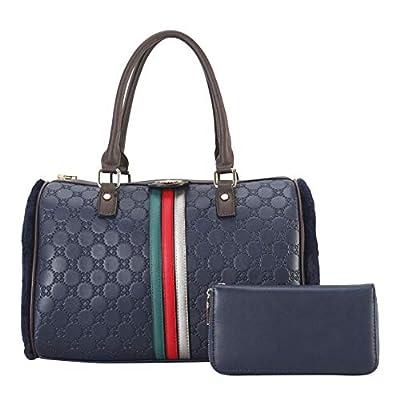 Lady's Moment Women Top Handle Bags Leather Tote Purses Handbags 2pcs Set