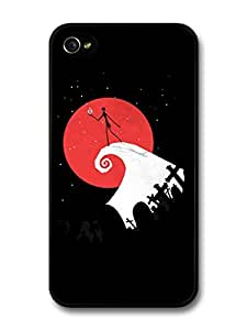 The Nightmare Before Christmas Movie Tim Burton Jack Illustration case for iPhone 4 4S by icecream design