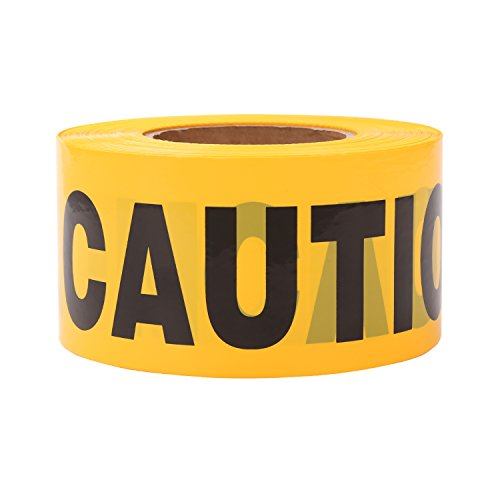 TopSoon Yellow CAUTION Tape Roll 3-Inch by 1000-Feet Non-Adhesive Construction Caution Tape Safety Barrier Tape Ribbon Tape Warning Tape for Danger/Hazardous Areas