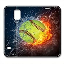 Samsung Galaxy S5 Case,Flame baseball water Samsung Galaxy S5 Cases,Samsung Galaxy S5 High-grade leather Cases