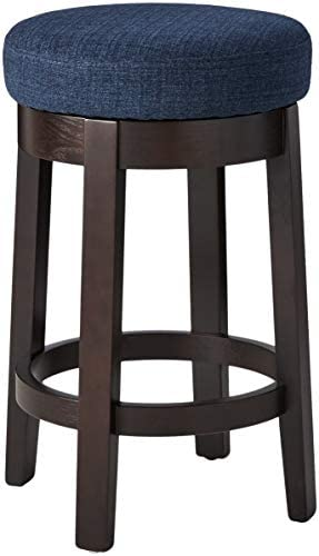 Ravenna Home Backless Counter-Height Kitchen Bar Stool with Swivel Seat, 26 H, Midnight