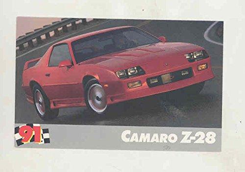 1991 Chevrolet Camaro Z28 Factory Postcard from Chevrolet
