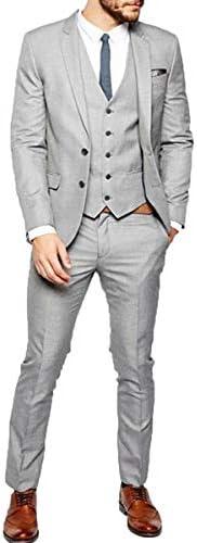 RONGKIM Burgundy Mens Suit Burgundy Peak Lapel Men Sui 3 Pieces Wedding Suits Groom Tuxedos