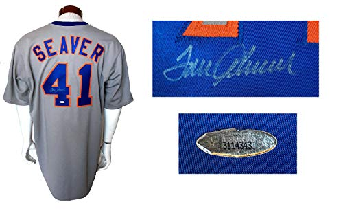 Tom Seaver Autographed Signed Memorabilia Cooperstown #41 Ny Mets Jersey Mint Auto Hof Tristar Holo Coa - Certified Authentic