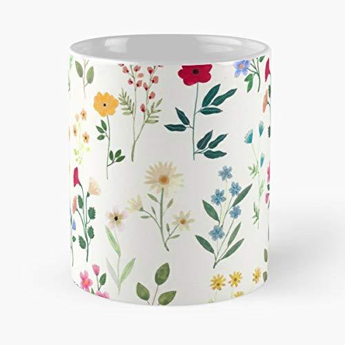 Gouache Floral Pattern - Ceramic Mugs