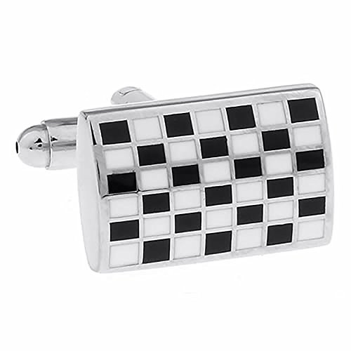 Board Checkers Squares (Square Black Checkerboard Cufflinks)