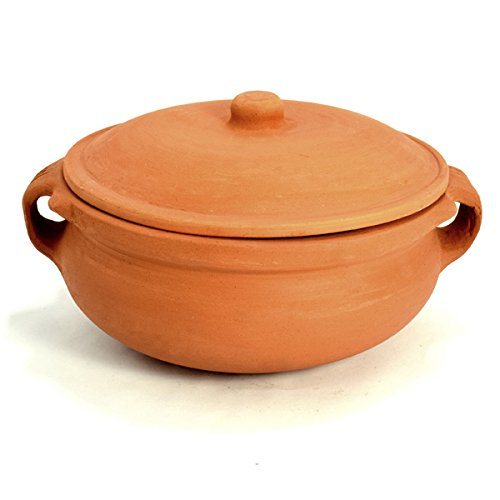 Clay Curry Pot - Small - 7 Inch (Indian Clay Cookware compare prices)