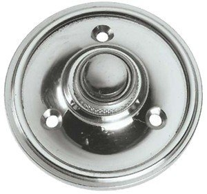 Polished Chrome Round Victorian Style Door Bell Push / Switch (PC39)