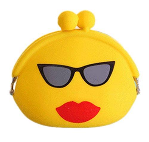pour Bigood monnaie Casque Style Emoji Chic Coin Sac Porte Silicone 2 Drôle rC1FYrx