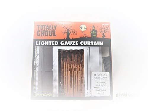 Totally Ghoul Lighted Gauze Door Curtain Halloween Decoration -