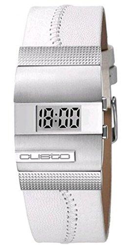 Custo on time cu034601 – Reloj de pulsera de mujer, correa de piel color blanco