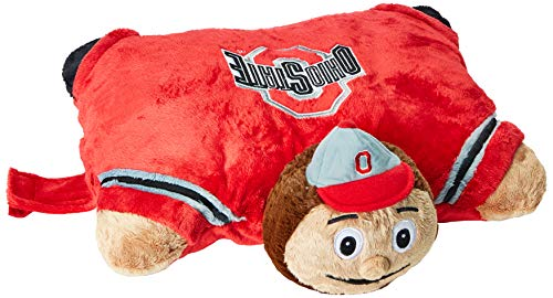 Fabrique Innovations NCAA Pillow Pet, Ohio State Buckeyes