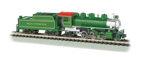 - Bachmann Industries Prairie 2-6-2 Locomotive and Tender Southern Train Car, Green, N Scale
