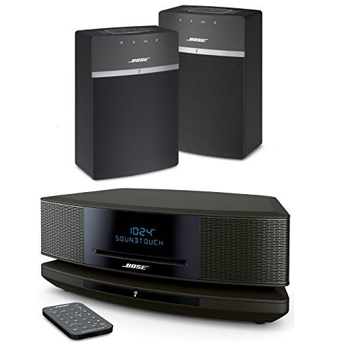 Bose Wave SoundTouch IV - Espresso Black & SoundTouch 10 x 2 Starter Pack - Black Bundle Multiroom Wi-Fi Music Systems