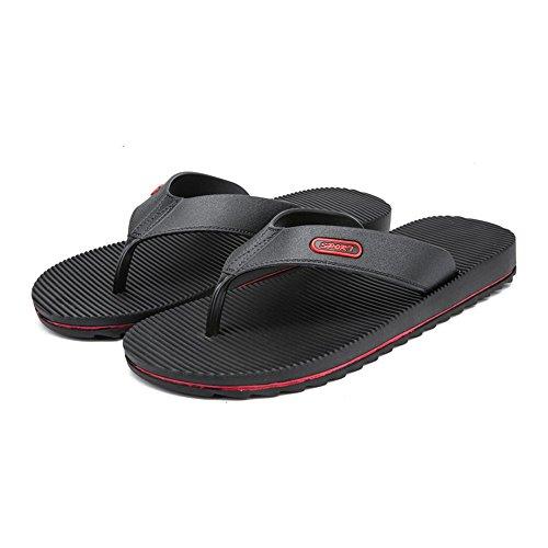 Blu Outdoor New EU shoes Xujw Anti skid Dimensione Nero da spiaggia Stripes Casual da 40 flop Flip resistenti uomo Sandali Color Uomo 2018 Wind Sandali all'usura da xUwqPU