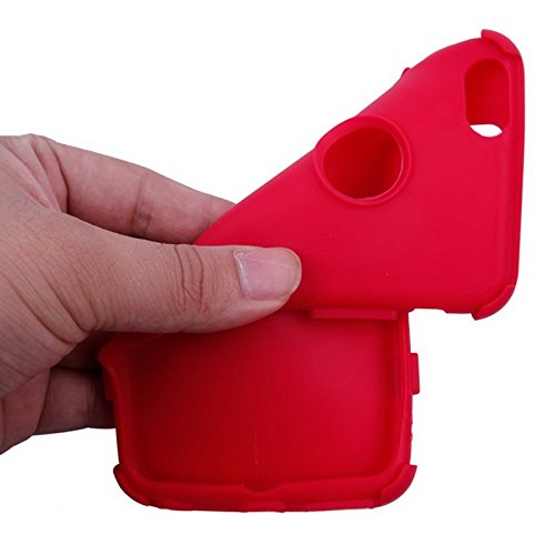Phone Taschen & Schalen Silikon + Hartplastik Kombinationsetui für iPhone 6 Plus & 6S Plus ( Color : Red )