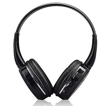 ... de sistema de entretenimiento Wireless IR infrarrojos cómodos auriculares reproductor de DVD ajustable Auriculares para In-Car vídeo TV Audio escuchar: ...