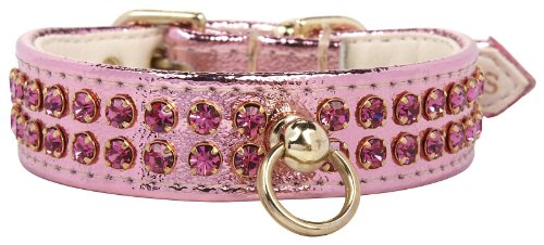 Fab Dog Crystal Collar - Pink & Pink Stones - X-Small