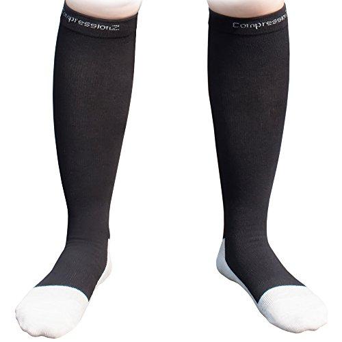 Men/Women Knee High Compression Socks X-Large Black