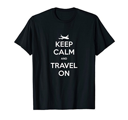 Keep Calm and Travel On Shirt by Luggage Tag Tees (Image #2)