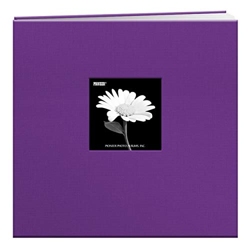 (Pioneer 12-Inch by 12-Inch Book Cloth Cover Postbound Album with Window, Grape)