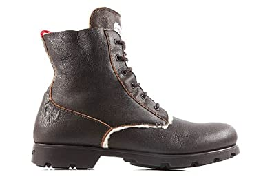 2b3f1e0c1270 Moncler men s genuine leather ankle boots vancouver brown UK size 10 ...